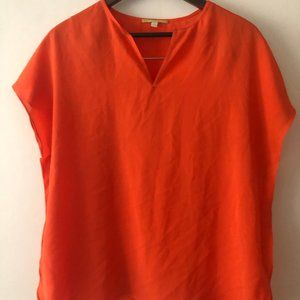 Gianni Bini orange flutter blouse